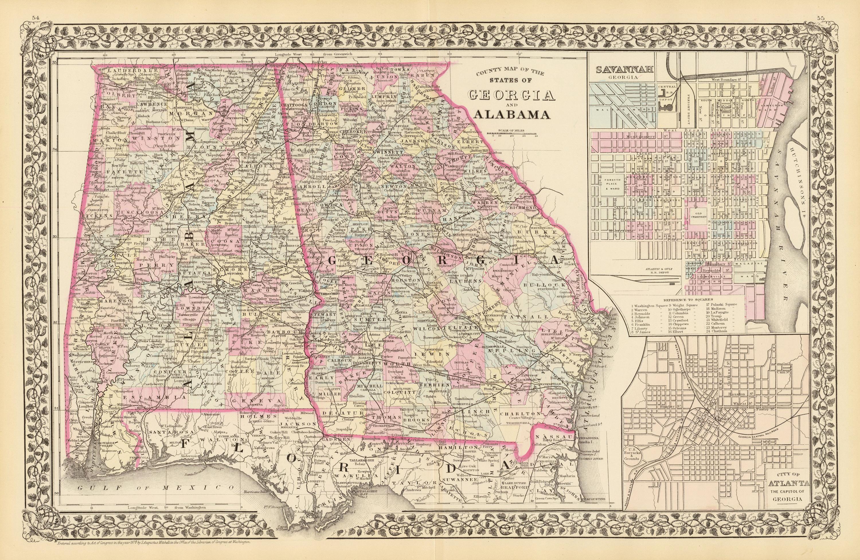 Map Of Georgia Alabama Georgia Map - Map of alabama cities