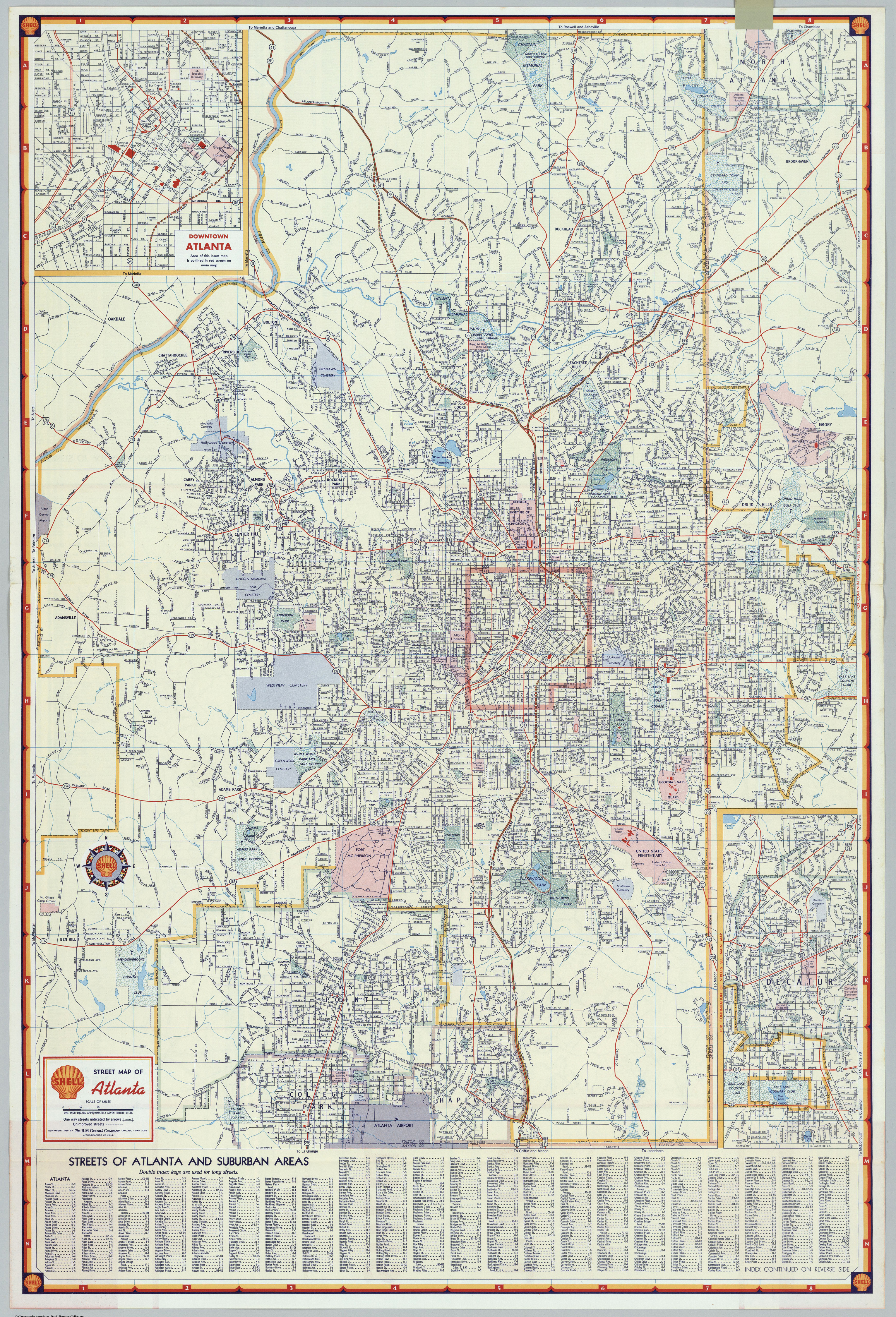 Mapping Metro Atlanta - Us map with interstate highway system