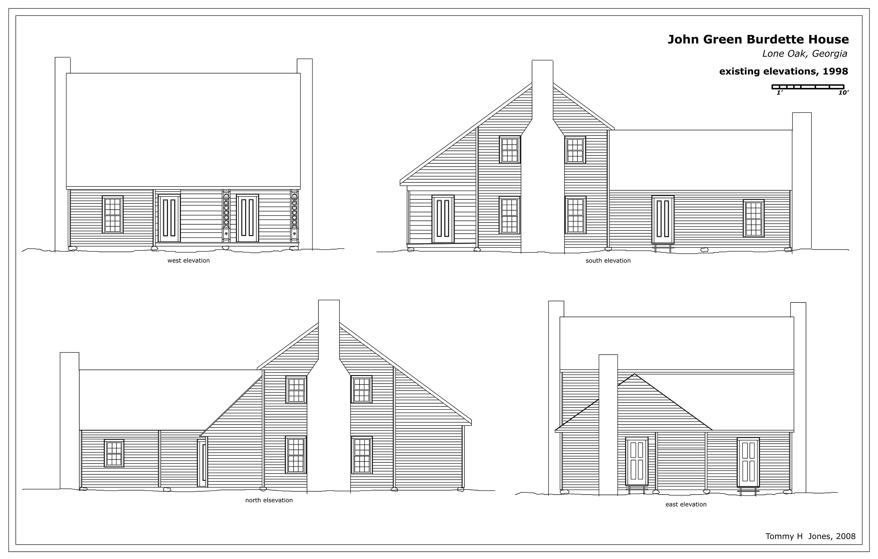 House plan elevation drawings for House plan and elevation