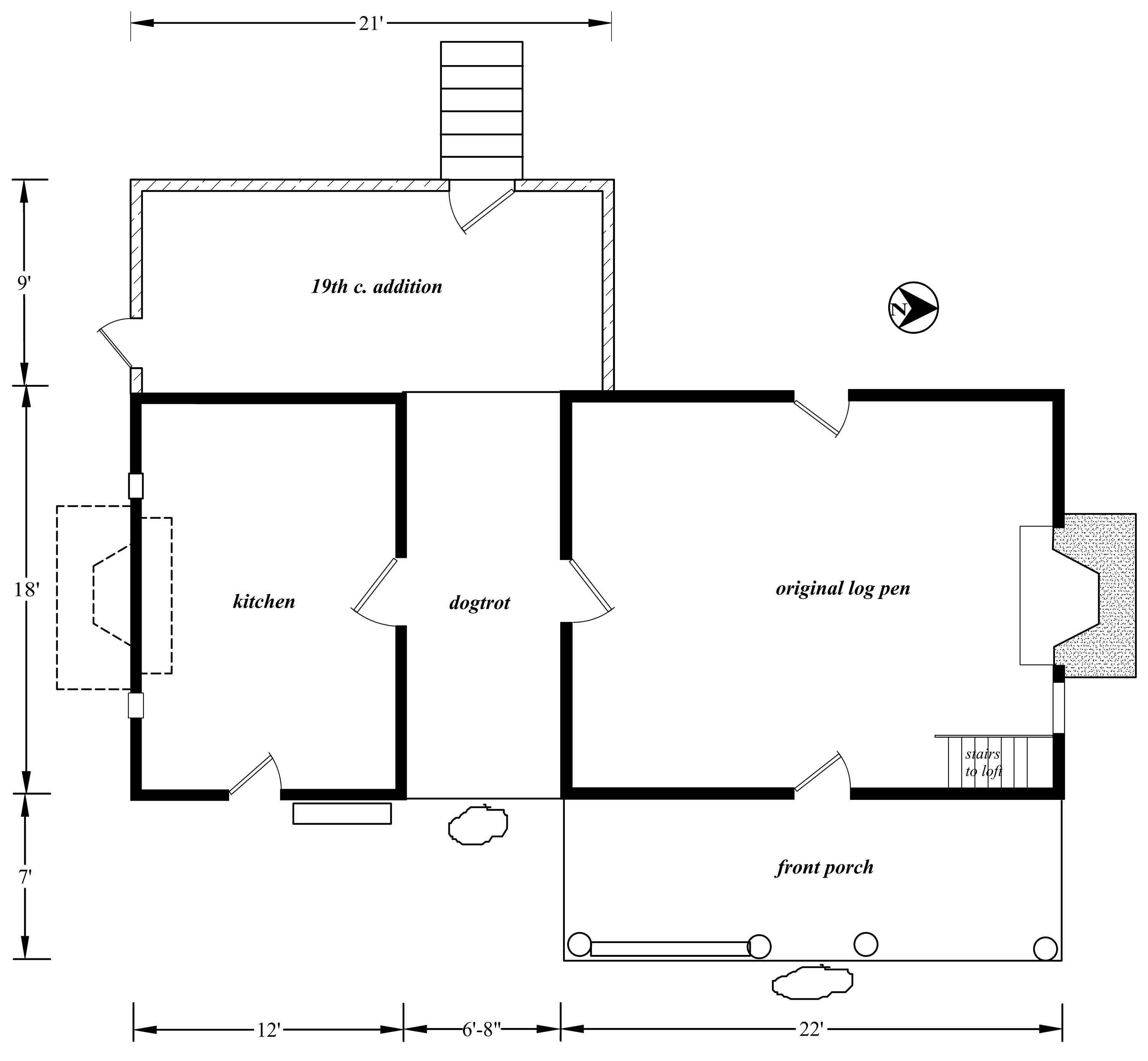 John thomas carnes house for House drawing plan layout
