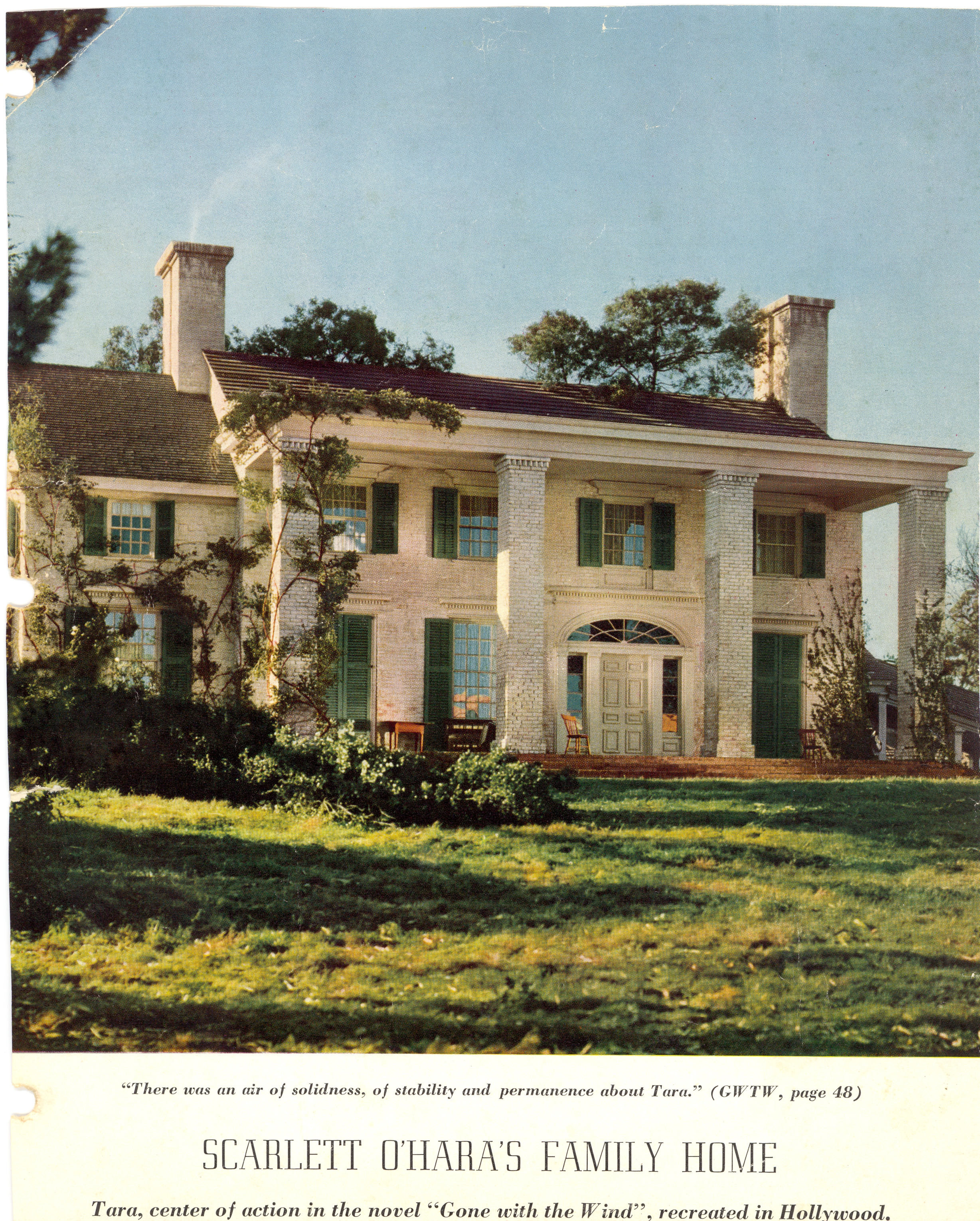Tara gone with the wind house plans for House plan set