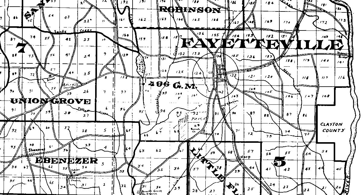 DavisWesley - Georgia map fayetteville